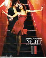 PUBLICITE ADVERTISING 056  2003  Emporio Armani  les nouveaux parfums Night