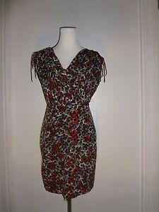 Cynthia-Steffe-Seamline-Size-4-Floral-Print-Multi-Color-Sleeveless-Dress