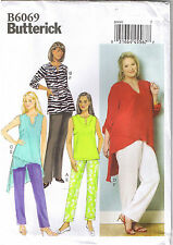 Easy Tapered Pants Tunic Top Butterick Sewing Pattern Womens Plus Sz 26 28 30 32