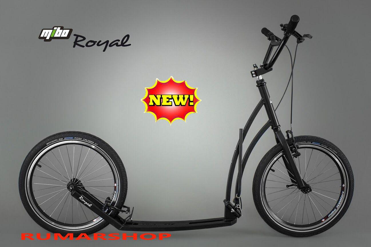 Wow NEU NEU NEU ORIGINAL MIBO ROYAL HANDMADE SCOOTER FALBARER ROLLER schwarz 83e976