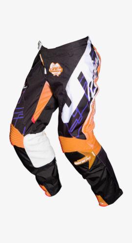 JT RACING USA Hyperlite Shuffle Pants Black//Cyan//Fluro Orange NEW MX Gear
