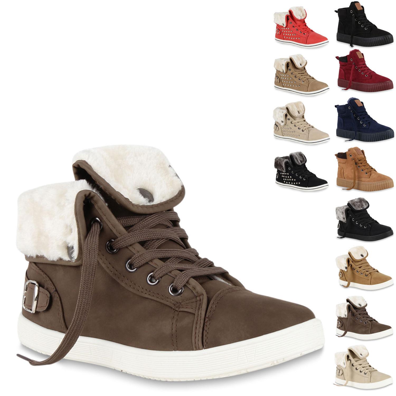 Warme Damen Sneakers Kunstpelz Sport Gr. zapatos  Gefüttert 70113 Gr. Sport 36-41  zapatos 1260fb