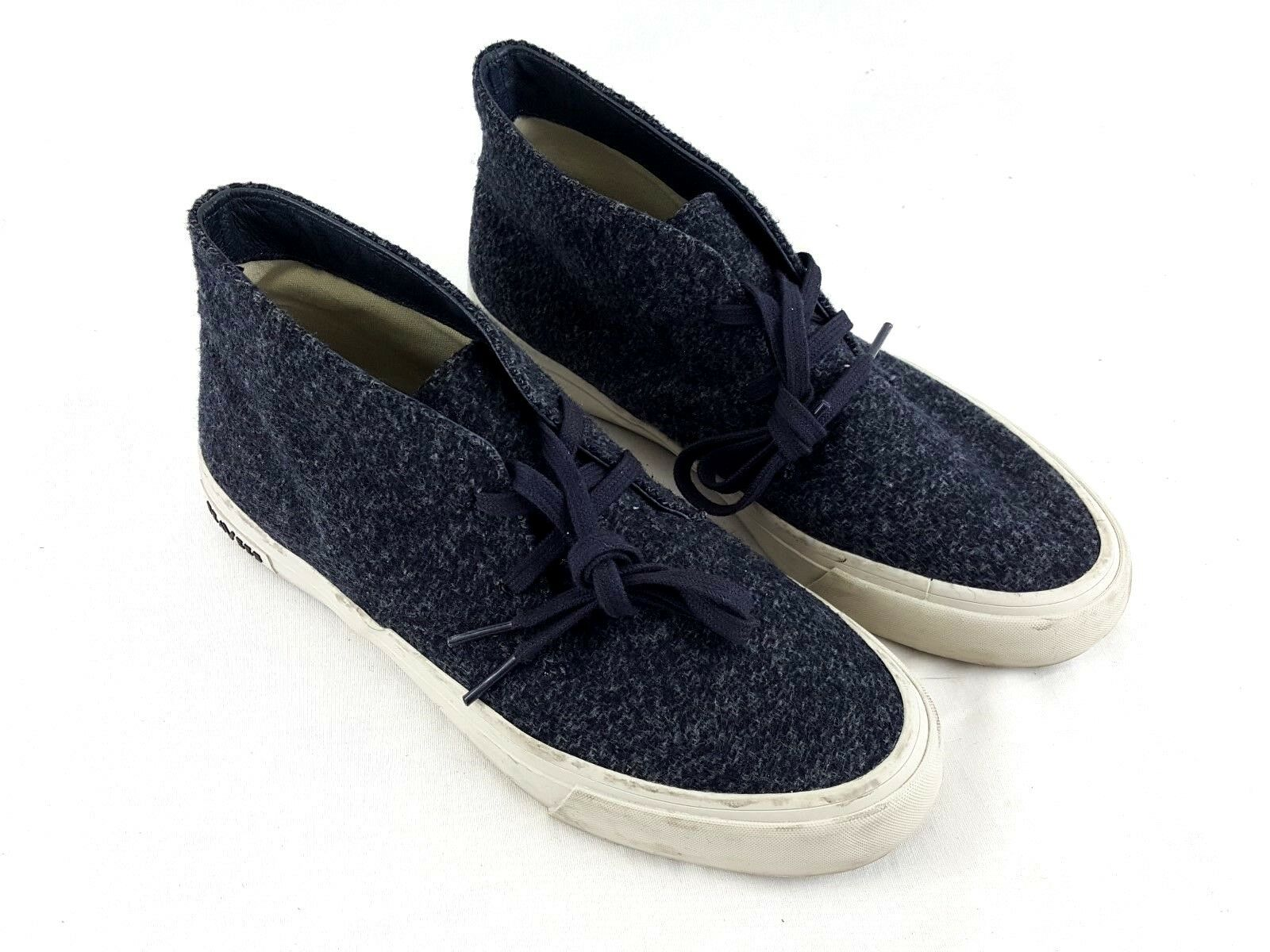 SEEVEES Wool Flannel Chukka Boots Blue Sneakers Shoes Womens sz 8 Maslon Desert