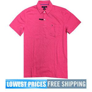 Tommy-Hilfiger-NWT-Men-039-s-WSTCOASTR2-Azalea-100-Cotton-Polo-Shirt-Free-Shipping