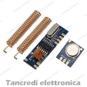 433Mhz RF Trasmettitore Ricevitore Modulo Arduino Wireless Radio Kit