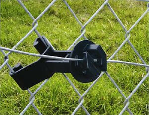Chain Link Fence And U Post Insulators Add Electric Fence