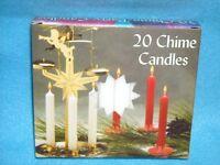 Christmas Angel Chime Candles, White, Box Of 20, Nib, 1/2 By 4 Tall, Dripless