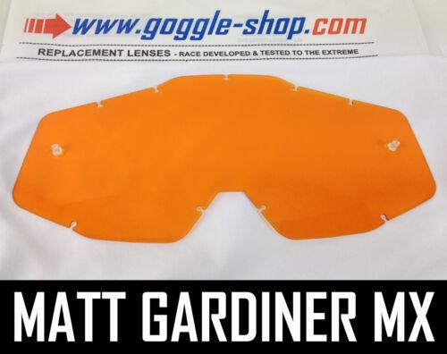 Goggle-Shop Ersatzglas für 100/% Motocross MX Brille Orange Farbe Accuri