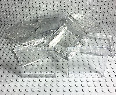 Lego Bulk Lot X15 New Transparent Trans-Clear Panels 1x6x5 Walls / Windows Parts
