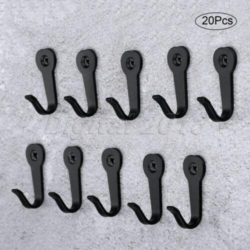 5//10//20pcs Wall Mounted Hooks Key Clothes Coat Bag Hat Hanger Holder Room Hook
