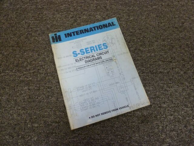 1979 International 2574 2575 2674 Truck Electrical Wiring Diagrams Manual