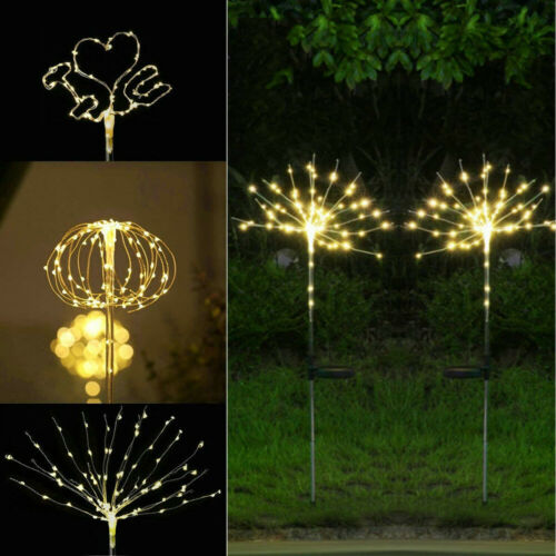 Energie Solaire Jardin Lumières Feux d/'artifice Starburst DEL jeu de lumière extérieur UK