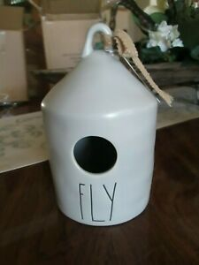 Rae-Dunn-2020-Release-FLY-Round-Gray-Ceramic-Birdhouse-New