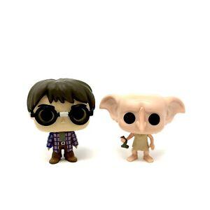 2 Funko Pop! Mini Figures from 2018 Harry Potter Advent Calendar HP & Dobby