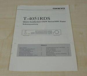 Onkyo T-4051RDS original Bedienungsanleitung Deutsch