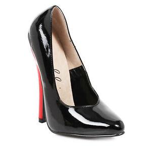 """Ellie 8260 Red 6"""" High Heel Fetish Round Toe Classic Stiletto Women's Pump"""