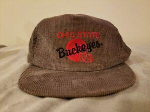 2d100ed2e1a Vintage Ohio State grey CORDUROY Snapback Hat Cap Adjustable Size ...