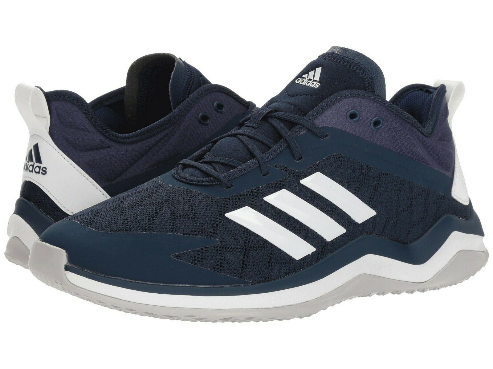 Adidas Speed Trainer 4 Men's Baseball Turf Trainer shoes Navy White colorway