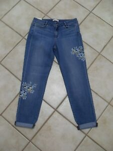 Jill Nwt's Straight denim Taglia Womens in Jeans di 8 floreale J OIgdwqg