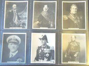 1929-Carreras-FAMOUS-NAVAL-MEN-set-24-navy-Tobacco-Cigarette-cards-military