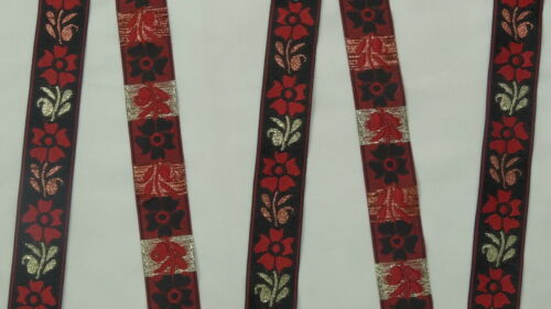 """1.10/"""" wide By The Yard Jacquard Trim Woven Border Sew Ribbon T816 2.80 Cm"""