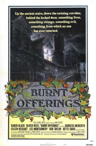 BURNT OFFERINGS Movie Poster 1976 Horror