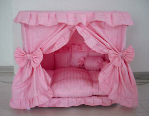 Gorgeous-Handmade-Princess-Pet-Dog-Cat-Bed-House-1-Candy-Pillow