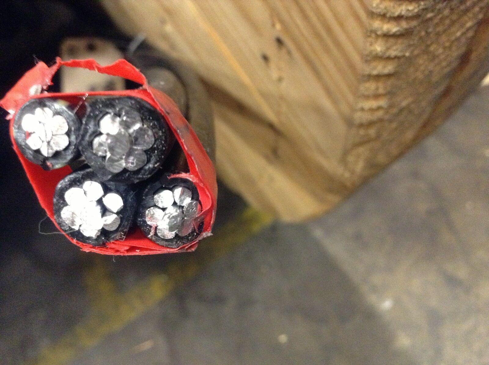 450\' URD tulsa 4-4-4-4 aluminum burial underground wire 600 volt ...