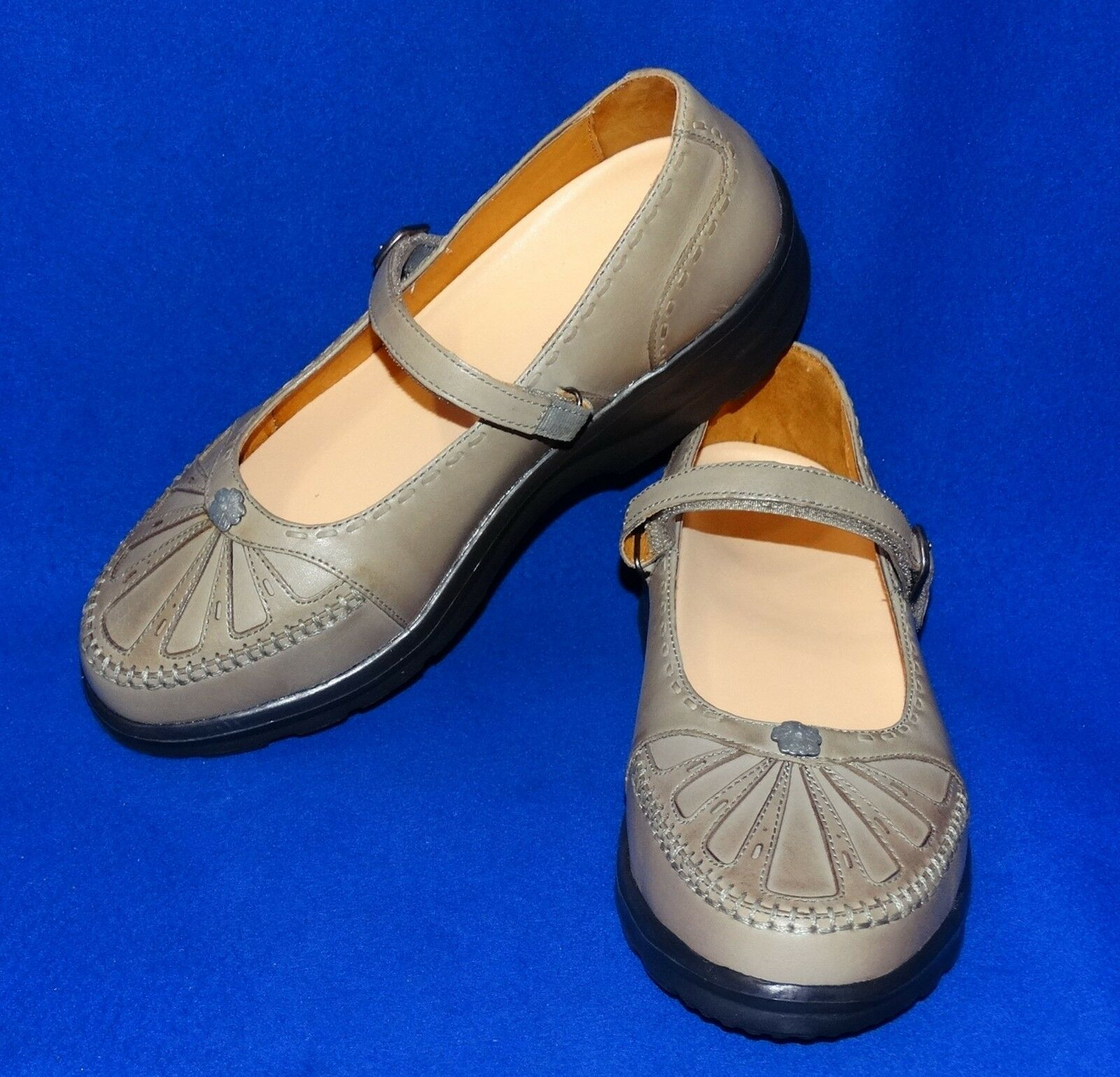 9.5W Dr.Comfort Paradise WOMENS Therapeutic Therapeutic Therapeutic MARY JANE GREY Leather shoes DIABETIC 86a7fe