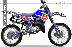 Details About Yamaha Yz125 250 Yz 1993 1995 Maxcross Graphics Kit Decals Stickers Full Kit