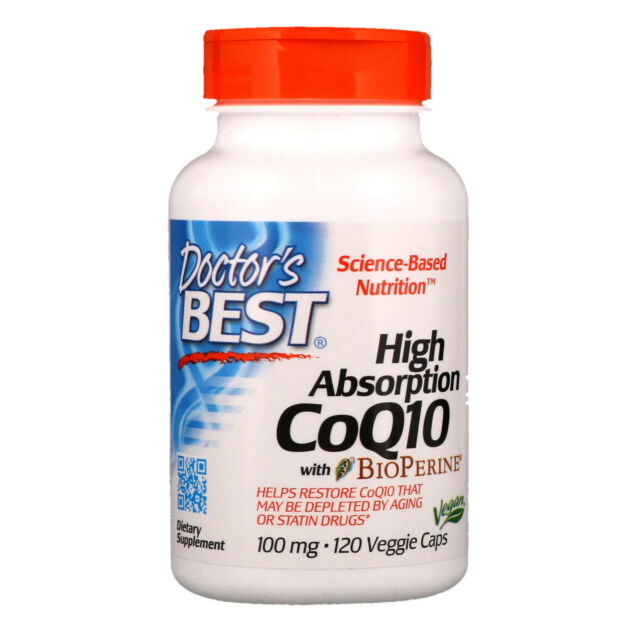 Doctor s Best  High Absorption CoQ10 with BioPerine  100 mg  120 Veggie Caps