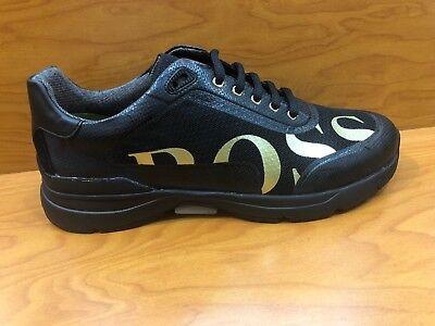 Hugo Boss Velocity Runn Logo2 50397613 001 Mens Trainers Black Shoes