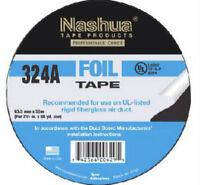 (8) Rolls Nashua 324a 1087663 2.5 X 60 Yard Hvac Silver Foil Tape