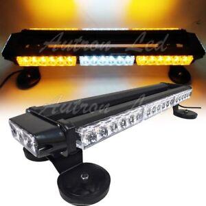 22-Inch-42W-LED-Emergency-Beacon-Warning-Double-Side-Strobe-Lightbar-Amber-White