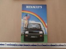 1981 Renault R5. FOLLETO de ventas, TS GTL TL Gordini Auto Boutique