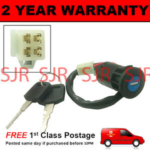 image is loading universal-motorbike-scooter-ignition-starter-switch-4-wire-