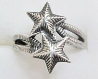 Shooting Star Ring In 925 Sterling Silver, Size 7 --- 4.9 Grams
