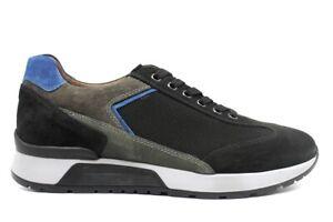 Scarpe-da-uomo-nero-giardini-A901181U-casual-sportive-basse-pelle-da-passeggio