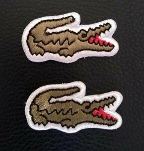 Beautiful Big Alligator Embroidered Sports Badge Iron on sew on Jacket Jeans