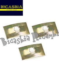 7915 - 3 MOLLETTA FERMO FISSAGGIO TARGHETTA VESPA 125 150 200 PX ARCOBALENO