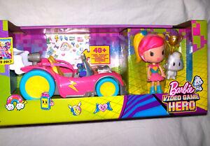 16x35cm,videospielauto Figur,neu,ovp,lizenz-rarität Warnen Barbie Video Game Hero,ca