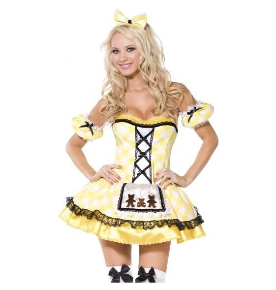 LADIES GOLDILOCKS COSTUME - SIZE MEDIUM - MELBOURNE LOCATION