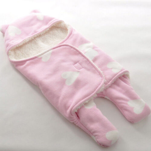 Plush Newborn Baby Clothes Girls Boys Cotton Hoodie Jumpsuit Romper Outfits