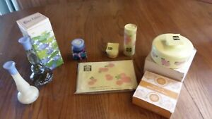 vintage-avon-Blue-Lotus-Hana-Gasa-lot-Full-containers-in-boxes
