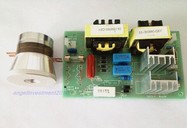 2pcs 50W 40KHz Ultrasonic Cleaning Transducer+1pc Power Driver Board 220VAC