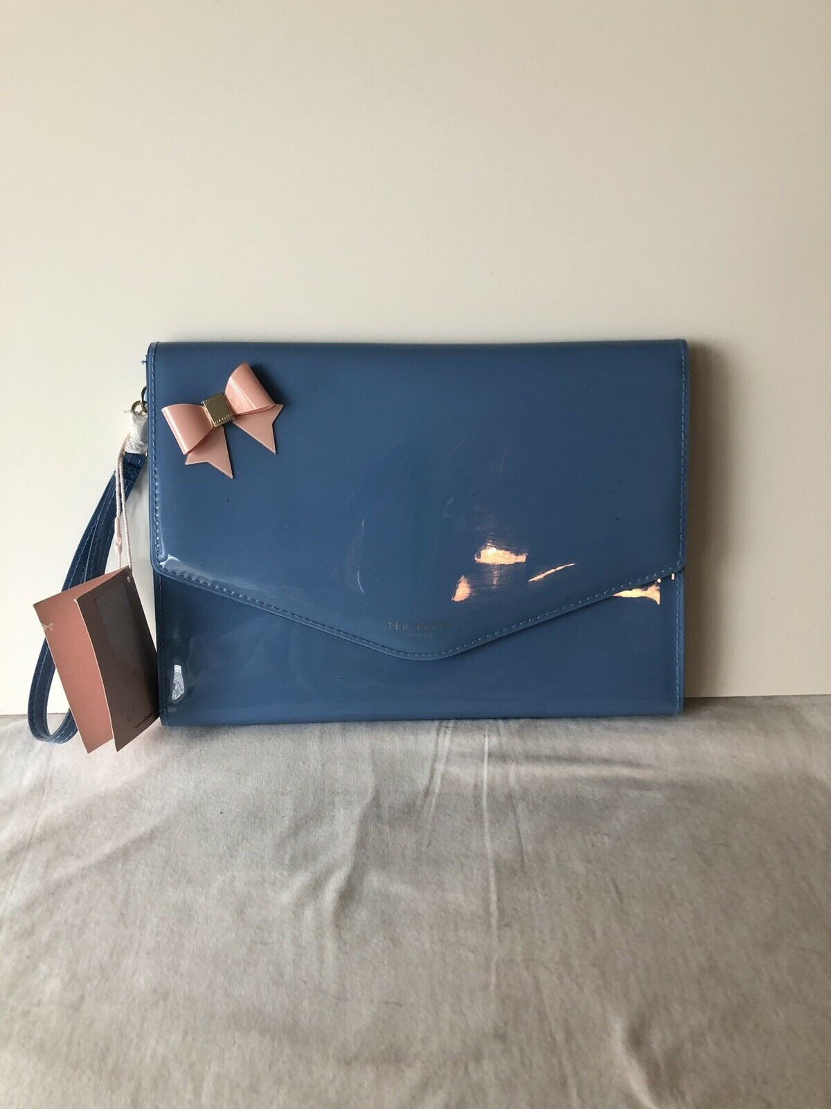 Ted Baker London - Bow Envelope Pouch Clutch Wristlet Blue