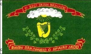 3x5 1st Irische Brigade Flagge Irland Harfe Union Krieg Infanterie Banner