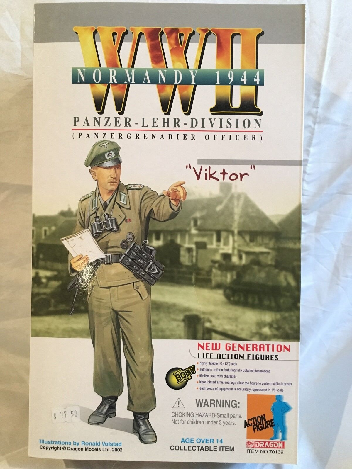 Dragon 1 6 WWII Normandy 1944 Panzer Lehr Division Officer Viktor Action Figure