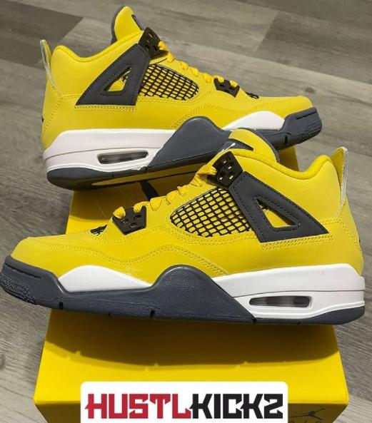 Nike Air Jordan 4 Retro Lightning (2021) (GS) Size 6.5 & 7 (408452-700)