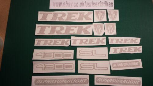 Mountain Road Racer Bicycle TREK 4300 SL cycle stickers Bike MBK Custom